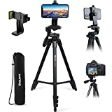 Endurax Cell Phone Tripod 60' for Phone and Camera Extendable Phone Stand for Recording with Remote Shutter & Universal Smartphone Mount for Android Phone