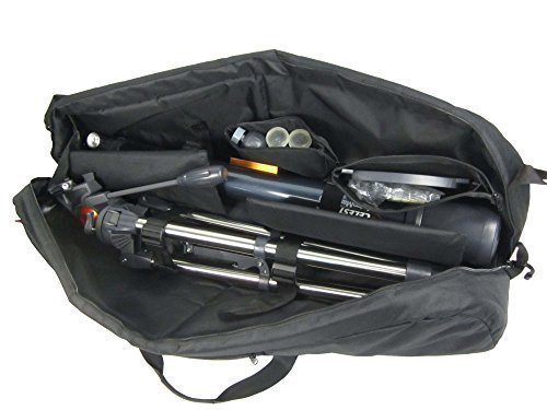 "Kuool Camera Protective and Padded Telescope Carry Case - 37.7"" L X 9.8"" w X 9"" H, Cam Bag"