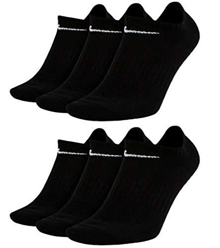 Nike Socken 6 Paar Sneakersocken Füßlinge Socken SX7678 Weiß Grau Schwarz