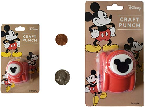 Small and Large Disney Craft Paper Punches of Mickey Mouse Logo (2 Punches) (Japan Import)