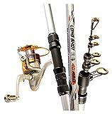 LHAHGLY Juego de cañas de Pescar telescópicas Kit de Tackle con roding Rod Reel Combos Line Lures Hooks Travel Starter Profesional Conjunto Completo Suministros de Pesca cañas de Pescar