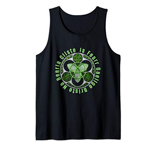 Celtic Gaelic Irish Saying Ireland Trinity Knot Tank Top