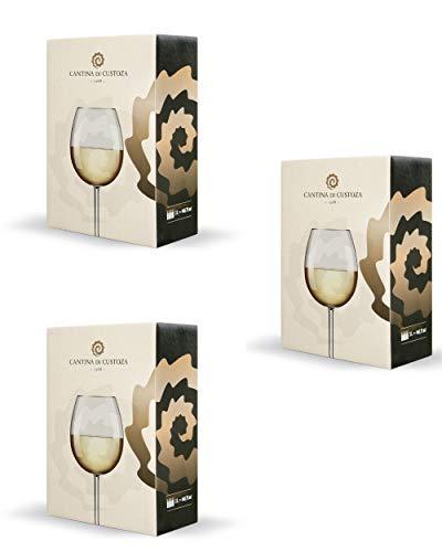 Bag In Box Misto Bianchi - 3 confezioni da 5 litri - 5 litri di Chardonnay Veneto IGT - 5 litri di Pinot Grigio DOC - 5 litri di Bianco Garda DOC