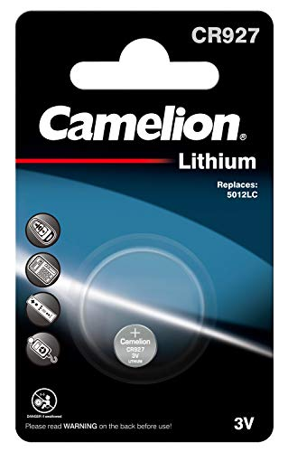 Camelion 13001927 Lithium Knopfzelle CR927, 1er-Pack, silber