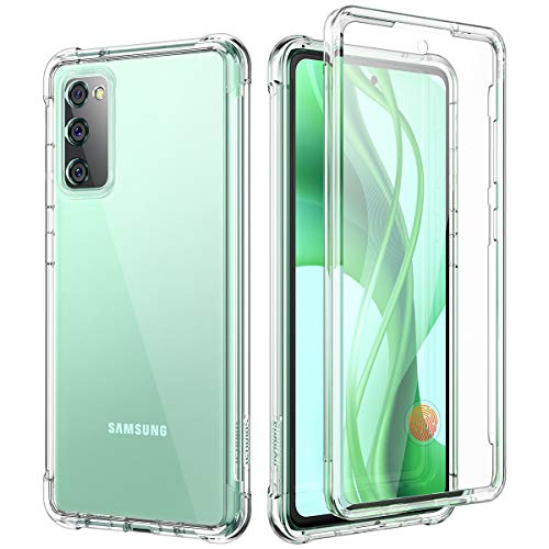 SURITCH Clear Case for Galaxy S20 FE 5G,[Built in Screen Protector][Camera Lens Protection] Full Body Protective Shockproof Bumper Rugged Cover for Samsung Galaxy S20 FE 6.5 Inch (Clear)