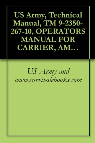 US Army, Technical Manual, TM 9-2350-267-10, OPERATORS MANUAL FOR CARRIER, AMMUNITION, TRACKED: M992, (NSN 2350-01-110-4660), military manauals, special ... military manuals on cd, (English Edition)