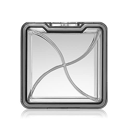 DUOYINGMY Portapillole Pill Case Vitamine Contenitore Contenitore di plastica Capsule Organizzatore per Tablet 4 Grid Impermeabile Medicine Box per la Pillola per Il Viaggio (Color : Grey)