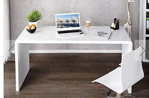 Furniturebox UK Enzo Modern White High Gloss Computer PC Home Executive Study Office Corner Desk or Vanity Dressing Table