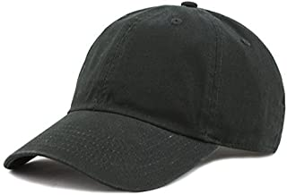 The Hat Depot Unisex Blank Washed Low Profile Organic Cotton and Denim Dad Hat Baseball Cap