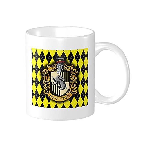 Taza de café de Harry Potter Hufflepuff / Taza de fiesta Regalo de cumpleaños divertido para mujeres y hombres Los mejores regalos de cumpleaños para adultos