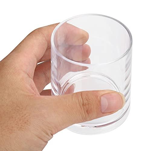 Taza de acrílico, taza de té duradera anti-caída para hotel para restaurante(Transparent color)
