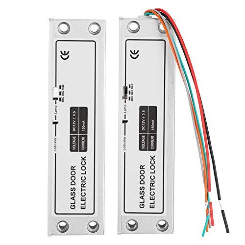 Cerlingwee Mortaja eléctrica de instalación Sencilla y práctica, Cerradura eléctrica de Perno, Sistema de Control de Acceso eléctrico DC12V para Seguridad