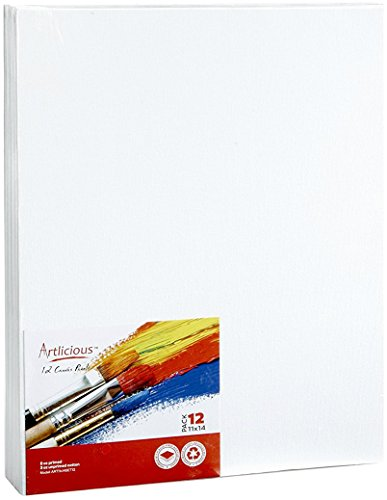 "ARTLICIOUS Canvas Panels 12 Pack 11""x14"""