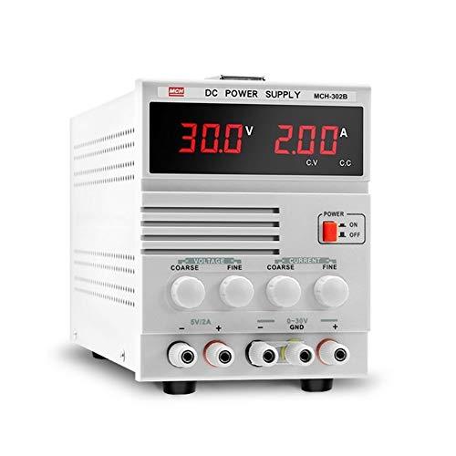 Fuente de alimentación de CC ajustable 30V 2A Reparación de portátiles Fuente de alimentación lineal Pantalla digital MCH-302B DISEÑO HUMANO,USO AMPLIO (Size : 220V)