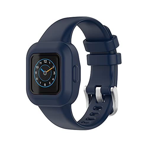 KINOEHOO Correas para relojes Compatible con Garmin Vivofit JR3 Pulseras de repuesto.Correas para relojesde silicona.(Azul medianoche)