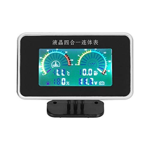 Medidor de presión de aceite de temperatura del agua Pantalla digital 4 en 1 DC LCD 9V-36V para control automático