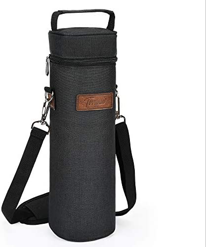 Tirrinia Single Wine Cooler Bags Insulated Padded Portable Wine Tote Carrier for Travel BYOB product image