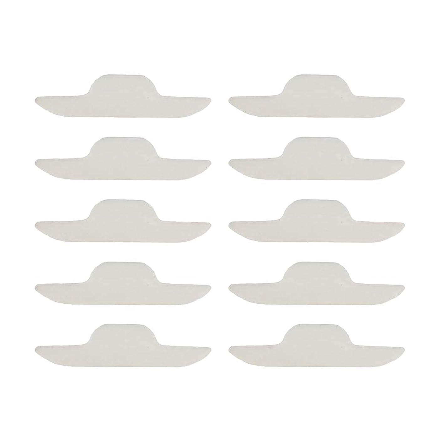 開示するセラー無効にするT TOOYFUL 使い捨て 汗取りパッド ネックスウェットパッド 自己接着 ユニセックス ポータブル 10個入