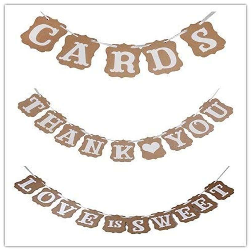 LOVE IS SWEET, THANK YOU, CARDS Paper Garland Banner Wedding Banner Party Decorations