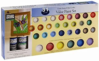 Plaid Gallery Glass Window Color Value Paint Set, 17030 (31-Colors)