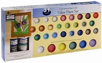 Plaid Gallery Glass Window Color Value Paint Set, 17030 (31-Colors)
