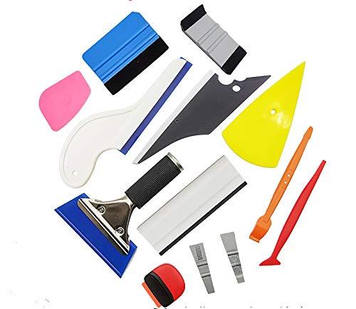 Kit de herramientas de envoltura de coche de fieltro de borde de 10 cm, herramienta de encolado de vinilo para adhesivo de montaje de tinte de ventana de envoltura de vinilo de coche (PT-A37-13SC6)