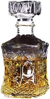 【morningplace】 ヴィンテージ風 ワイン ウィスキー グラス デキャンタ 1000ml クリスタル ボトル (トラぺゾイド)