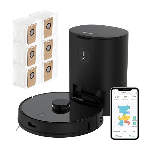 Arnagar Saugroboter S8 Pro Saugroboter mit Absaugstation Staubsauger Roboter mit app Saugroboter with Wischfunktion Staubbox Laser Navigation, Google Home, Alexa- & App-Steuerung