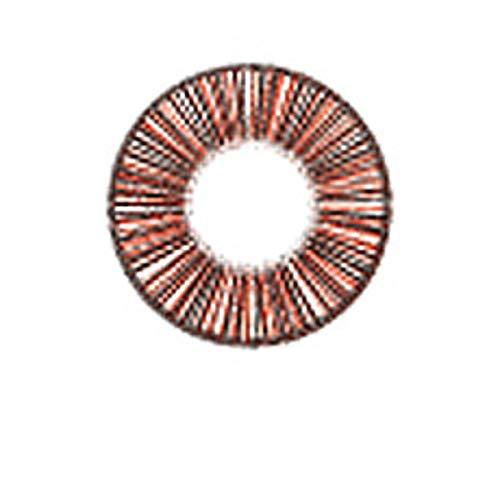 Matlens – EOS Farbige Kontaktlinsen ohne Stärke rot red Big eyes LINE 2 Linsen 1 Kontaktlinsenbehälter 1 Pflegemittel 50ml