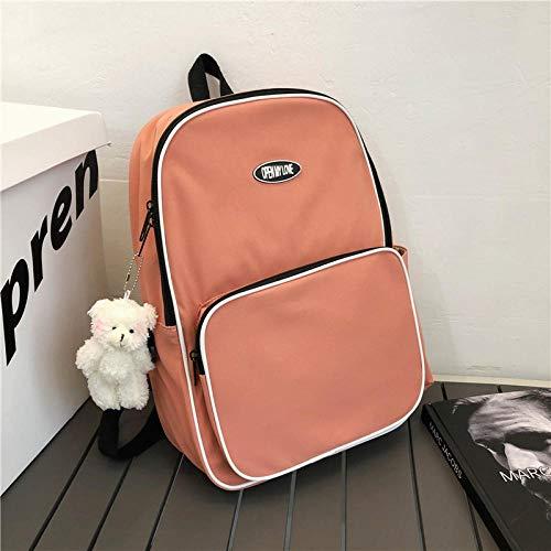 Huiran Borsa a tracolla semplice per studenti universitari borsa per computer retrò retrò nuova borsa da viaggio all aperto-Orange_29 * 10 * 41cm