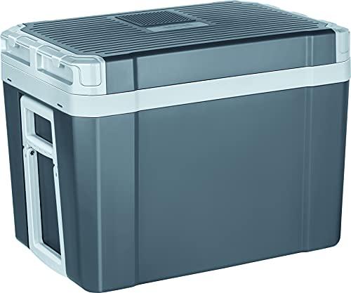 MPM 40-CBM-10Y Nevera Portátil Eléctrica de Viaje con Ruedas, para Coche, Camping, 12V / 220V, Capacidad 35 Litros, Refrigera, Mantiene el Calor, Modo ECO, Gris