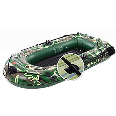 N/P Inflatable Boat Set 10ft 2/3/4 Person Blow Up Raft Set Diving Boat Inflatable Kayak Fishing Boat with Paddles Air Pump PVC Kayak Canoe Boat Set for Drifting