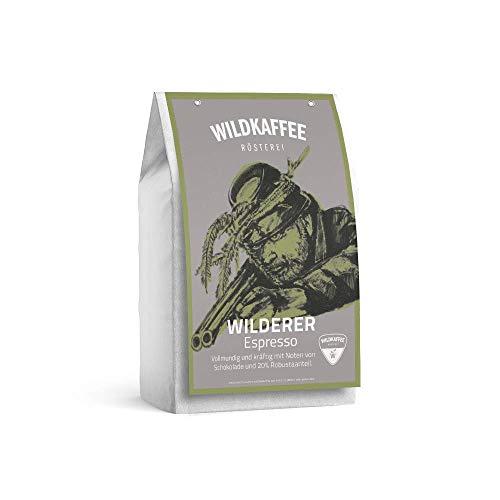 Wildkaffee Rösterei Wilderer Espresso, 250 g, Ganze Bohne, WK10003.250.GB