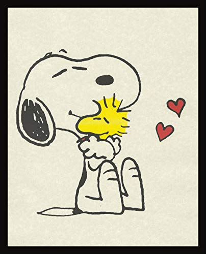 Snoopy Holding Woodstock Wall Image Decor Prints Artwork Picture Poster Home Office Bedroom Nursery - unframed