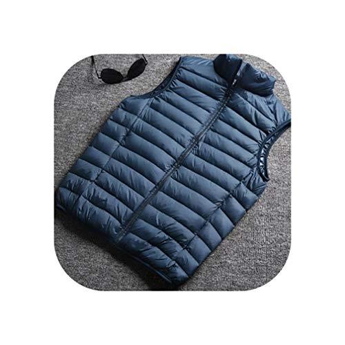 Winter Mannen Witte Eend Down Vest Ultralight Mouwloos Vest Jacket Losse Vest
