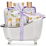 Spa Luxetique Spa Gift Set, Lavender Bath Gift Set, Pamper Gifts for Women, 8pcs Lavender Gifts with...