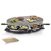 princess 01.162720.01.001 8 oval stone grill party combinazione di raclette e griglia