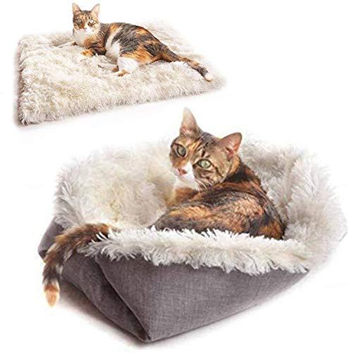 New-wish Tierbett für Katzen und Hunde, Kissen für Katzenbett waschbar, Sofa für Katzen und Hunde, leicht zu entfernen und zu waschen