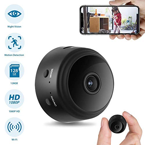 1080P Wifi Mini Camera Home Security P2P Camera WiFi Nachtzicht Bewegingsdetectie Draadloze IP Camera Remote APP Babyfoon (Zwart)