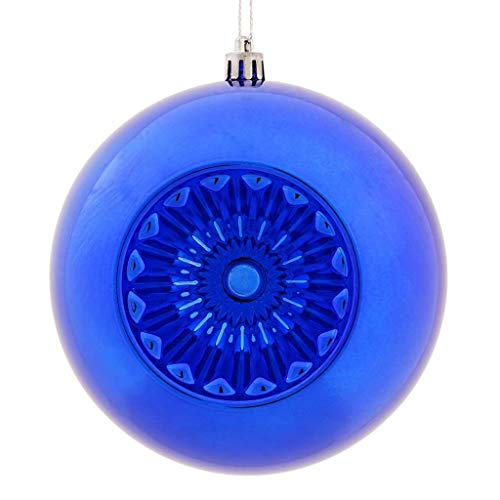 Vickerman 478110-4.75' Cobalt Blue Shiny Star Brite Ball Christmas Tree Ornament (4 pack) (N175522D)