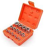 """SEKETMAN 14 Pieces Female E-Torx Star Socket Set ,1/4"""" 3/8"""" 1/2"""" Drive Inverted E-Torx Star Socket Set, Female External Star Socket Set,E4 - E24 Torque Socket Set"""
