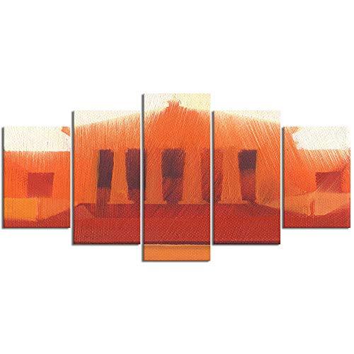 ZORMIEY Leinwand Malerei Wandkunst Modulare Bilder 5 Stücke Shedd Aquarium Chicago Wahrzeichen Malerei berühmte Essentials Stücke Wikinger Film HD Druck Poster Home Dekorative