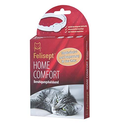 Felisept Home Comfort - Das Original - Beruhigungshalsband - Mit natürlicher Katzenminze - Wohlbefinden & Entspannung für Katzen