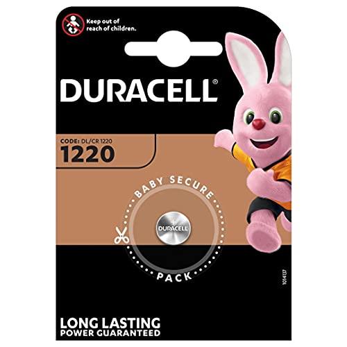 Duracell 5000394030305 DL1220 3V Lithium Knopfzellenbatterie 1-er Pack metallic