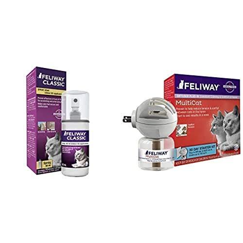 FELIWAY Spray & 30 Day Multicat Diffuser Plug-in Starter Kit