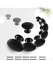 Lade Handgrepen,Zwart Lade Knoppen met Schroef,30mm Ronde Kast Handgrepen Set voor Kabinet Lade Keuken (Zwart 10PCS)