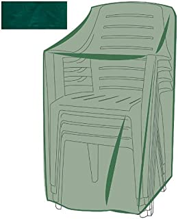 Plow & Hearth Outdoor Furniture All-Weather Cover for Stacking Chairs - Green…