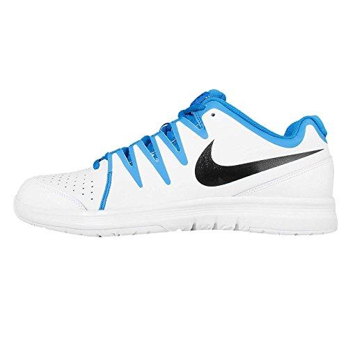 Nike Vapor Court, Scarpe da Ginnastica Uomo, Bianco, Nero, Blu, Bianco, Nero, Blu per Foto, 43 EU