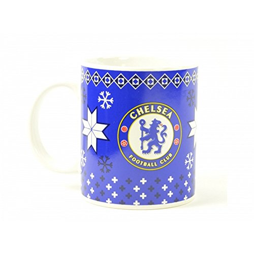 Chelsea FC Gunners Red Xmas Tea Football Club Crest Fan Gift Boxed Mug Official
