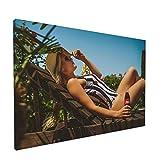 Coke Bottle Co-Ca-Co-La Model One-Piece Swimsuit Sunbathing 12x18...